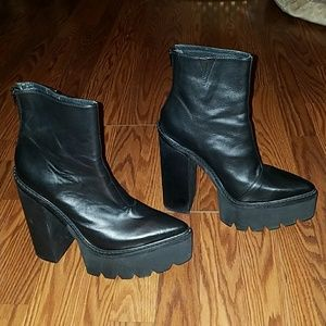 Jeffrey Campbell Famous Black Platform Boots